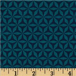 Michael Miller Rustique Shark Tooth Teal Fabric