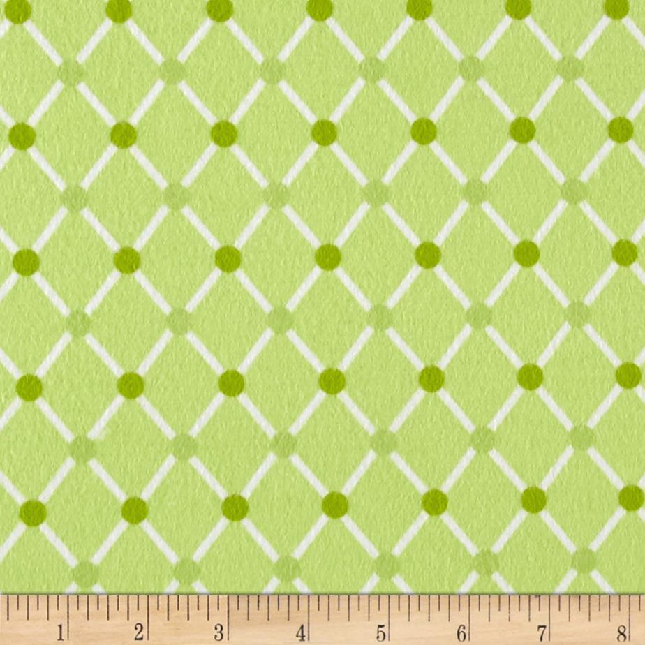 Kaufman Cozy Cotton Flannel Trellis Green