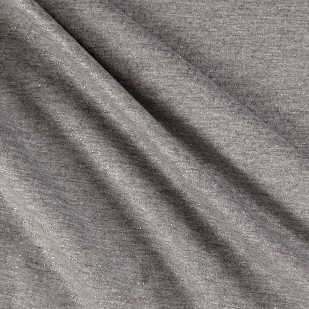 Shimmer Jersey Knit Silver/gray Fabric