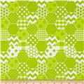 Riley Blake Hexi Print Lime