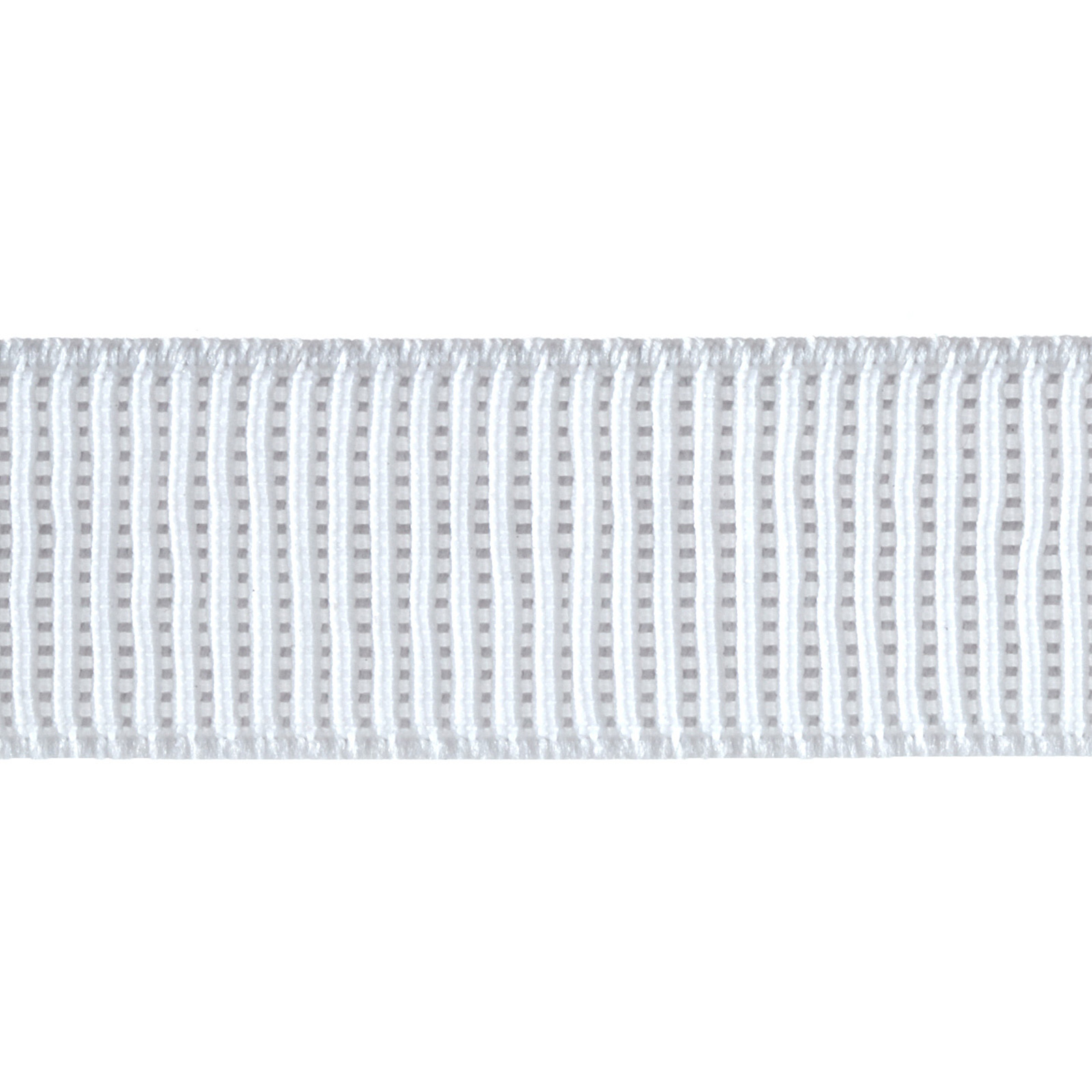 1'' Non-Roll Ribbed Elastic White 0310513