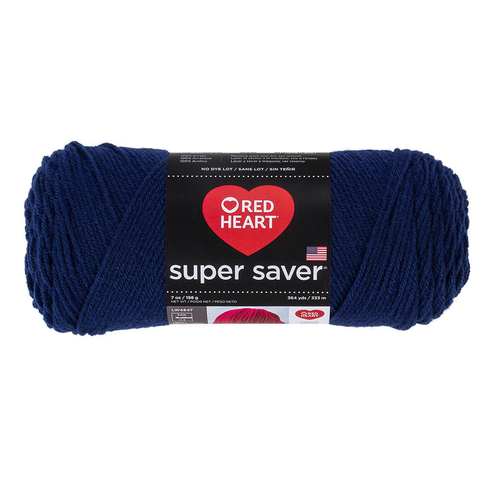 Red Heart Super Saver Yarn 387 Soft Navy