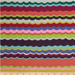 Alexander Henry Folklorico Del Mar Stripe Tea/Multi Fabric