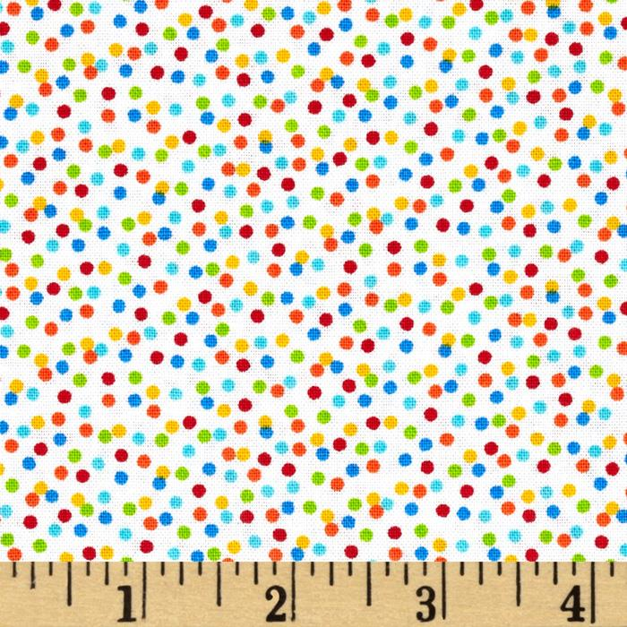 Timeless Treasures Hootenanny Organic Dots White