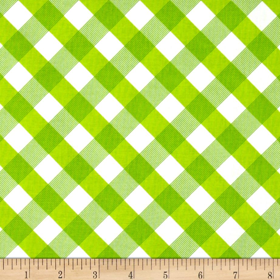 Sundborn Garden Criss Cross Plaid Green