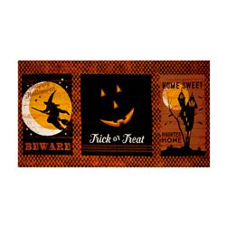 Jeepers Creepers Large 24 In. Block Print Orange