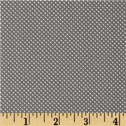 Morocco Blues Stretch Poplin Pin Dot Smoke/White