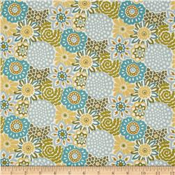 So Chic Button Blooms Aqua