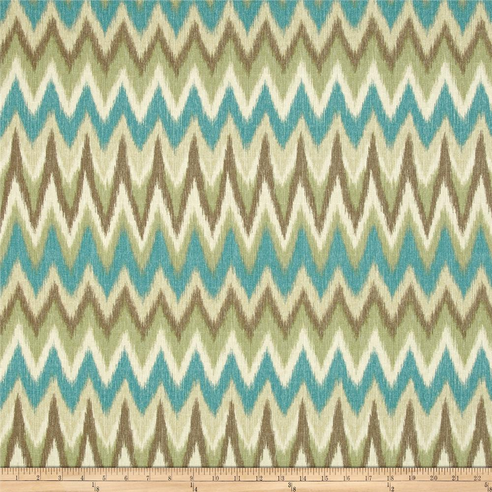 Swavelle/Mill Creek Rifat Chevron Aqua/Green