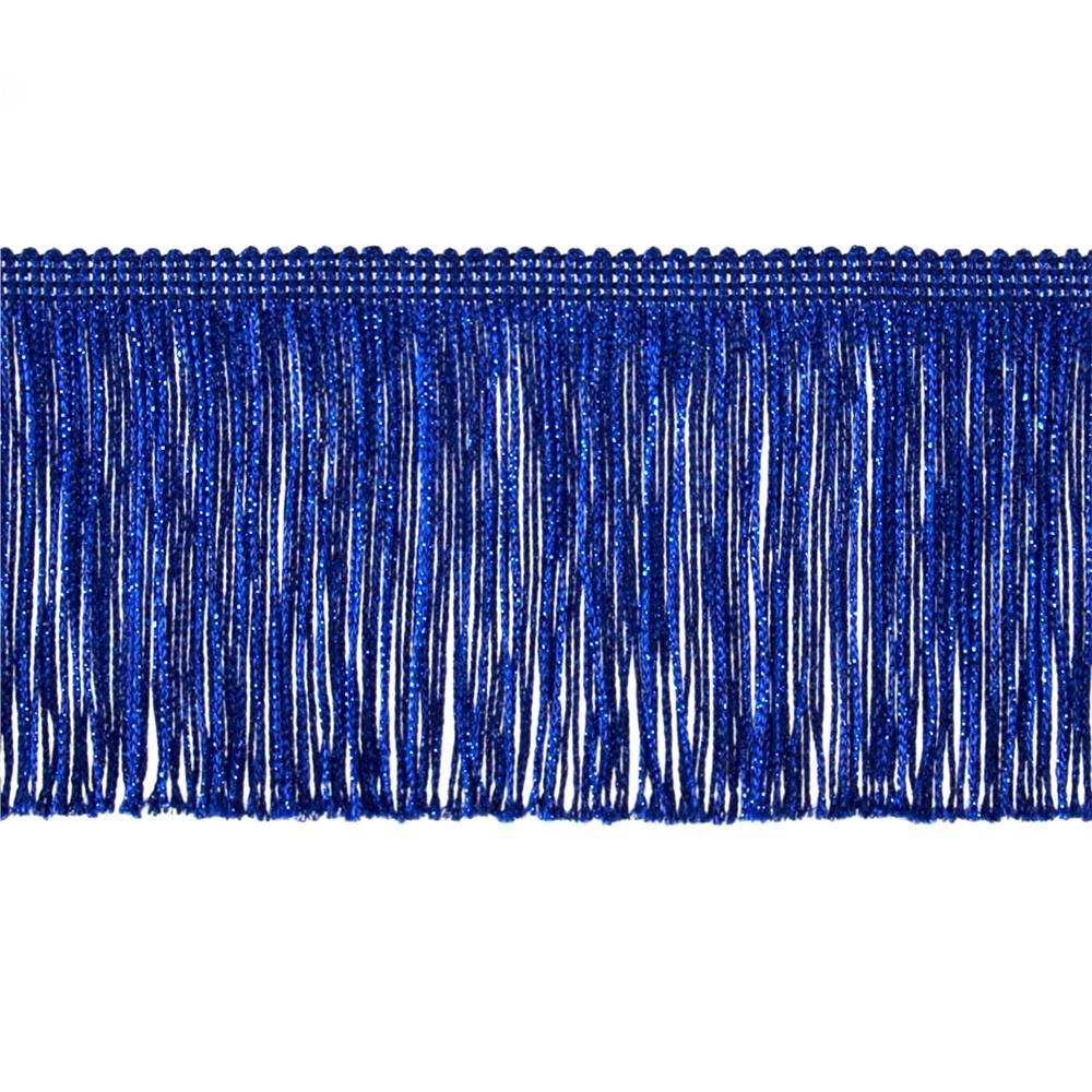 "4"" Metallic Chainette Fringe Trim Royal Blue"