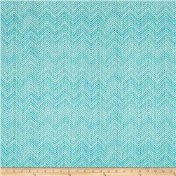 Robert Allen Sunbrella Peaking Out Chevron Turquoise