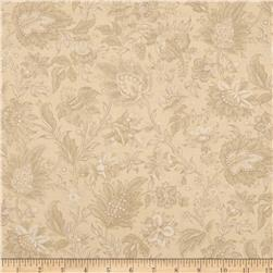 Mary Koval Tree of Life Jacobean Floral Beige