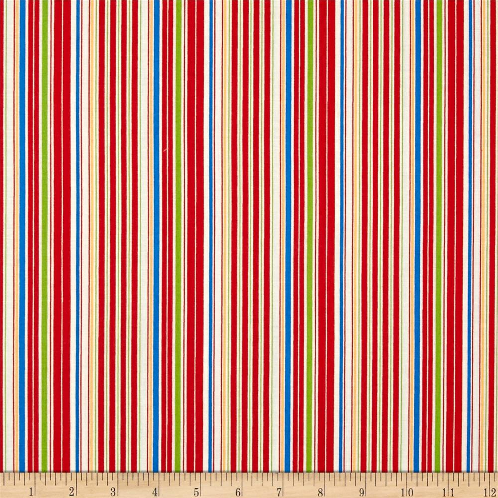 Aunt Grace Ties One On Stripe Red/Multi