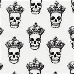 Timeless Treasures Skulls White Fabric