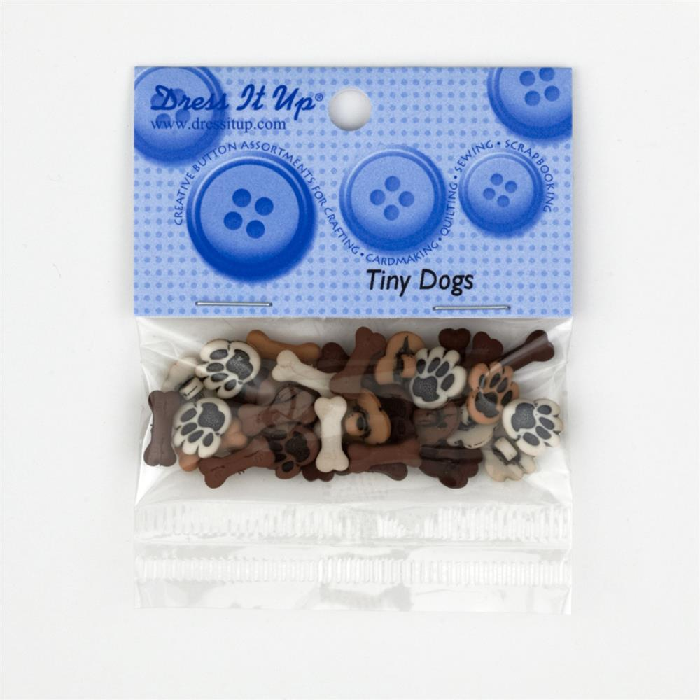 Dress It Up Embellishment Buttons  Tiny Dogs