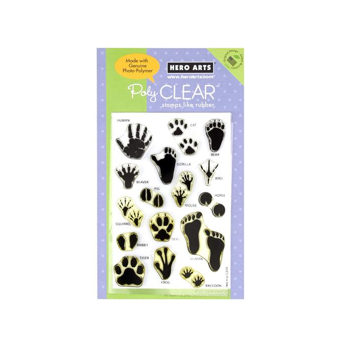 Hero Arts Animal Prints Poly Clear Stamp Set