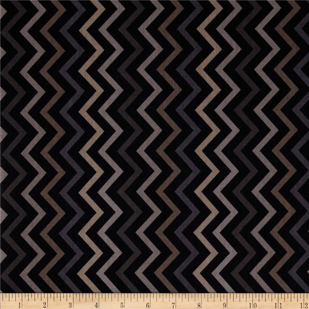 Michael Miller Mini Chic Chevron Charcoal