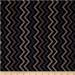 Michael Miller Mini Chic Chevron Charcoal Fabric
