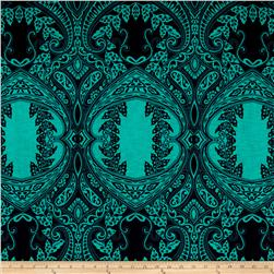 ITY Knit Flourish Emerald Green
