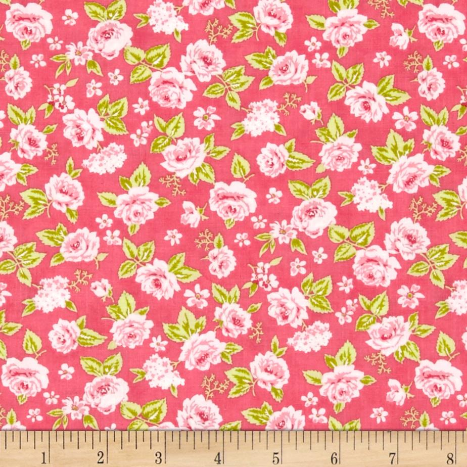 Moda sew sew garden strawberry discount designer for Cheap sewing fabric