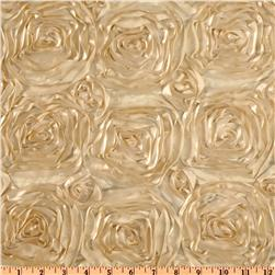 Splenda Satin Ribbon Rosette Beige