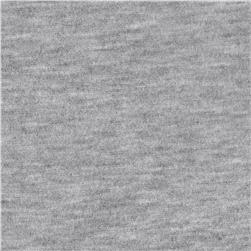 Silky Rayon Jersey Knit Solid Light Gray
