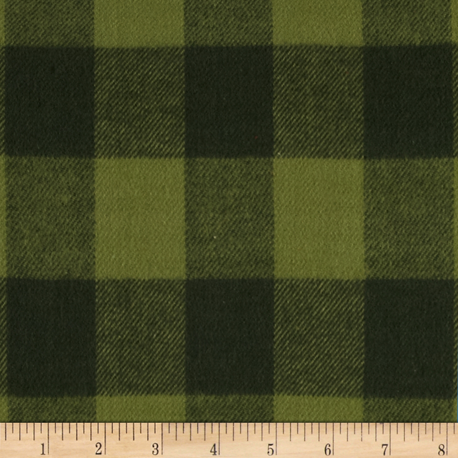Primo Plaids Christmas Flannel Buffalo Check Green