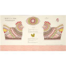 Alexander Henry Chicken In The Kitchen 24 In. Lt Tea/ Soft Pink