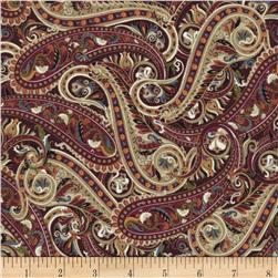 Timeless Treasures Metallic Tivoli Packed Paisley Multi