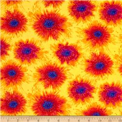 Timeless Treasures Cassidy Spaced Tie-Dye Yellow