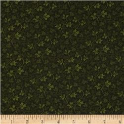 Always the Season Vine Dark Green Fabric