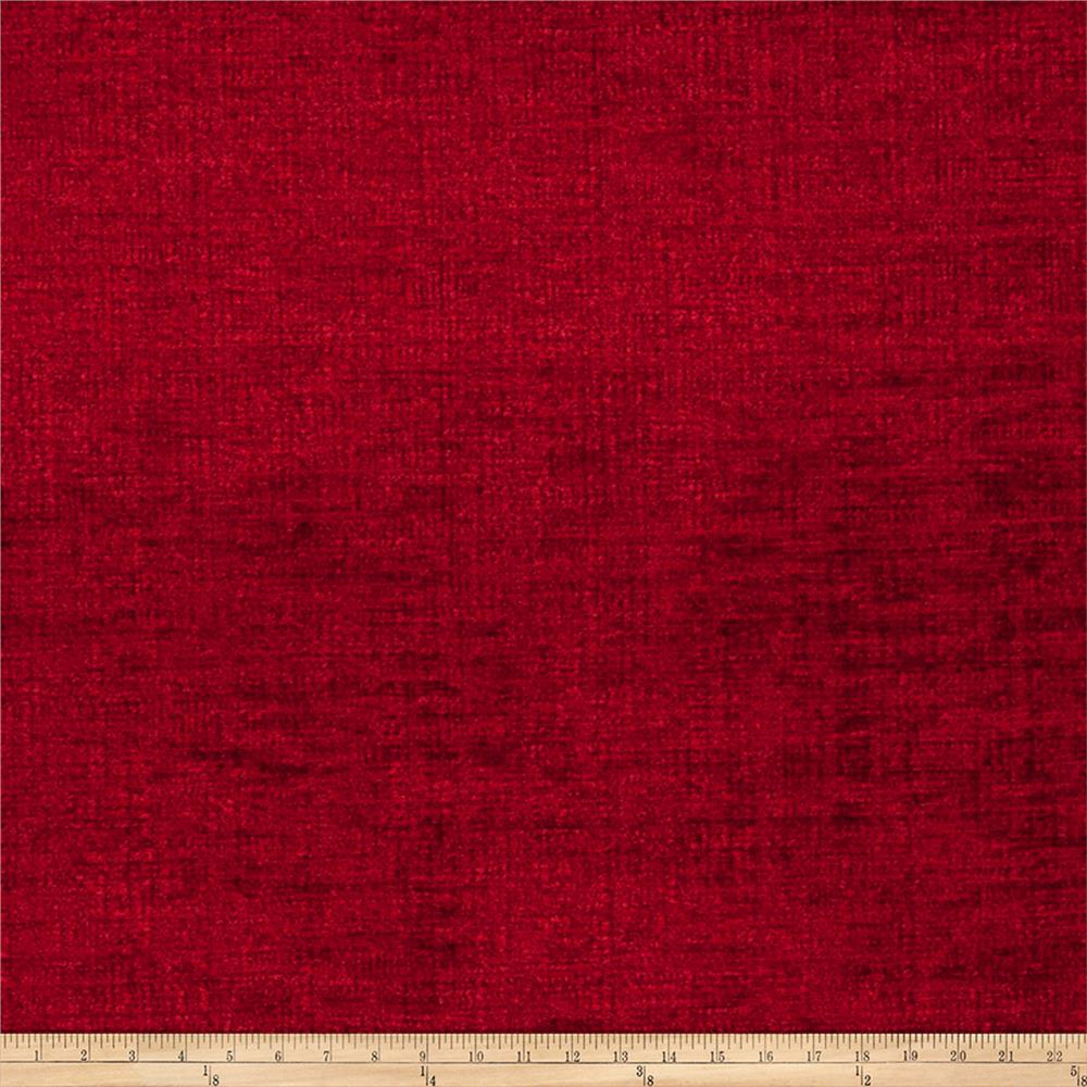 Fabricut Option Chenille Rich Red