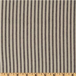 32'' Down-Proof Ticking Stripe Blue/Cream Fabric