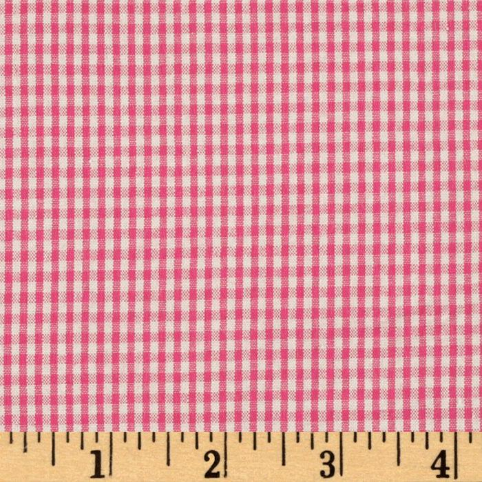 Classic Seersucker Check Hot Pink/White