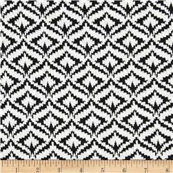 Spade Jacquard Knit Stripes Dark Black/White Fabric