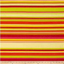 Soft Jersey Knit Stripes Red/Yellow Fabric