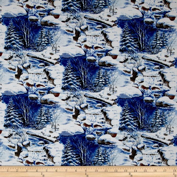 Snowscapes Scenic Trees & Creek Blue