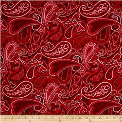Key to My Heart Paisley Red