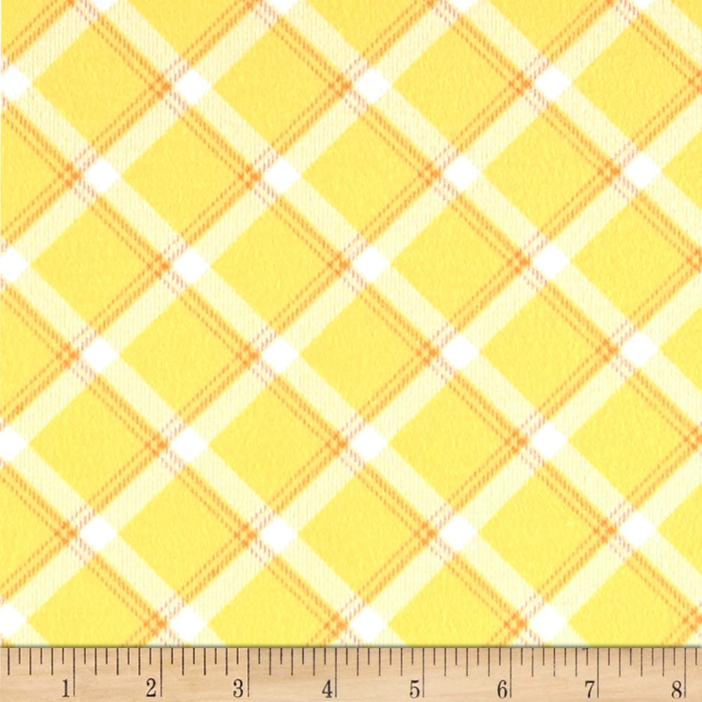 Kanvas Breezy Baby Flannel Lullaby Plaid Sunshine