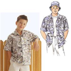 Kwik Sew Boys' Shirts & Hat Pattern