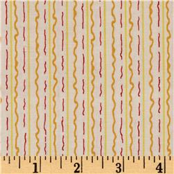Marmalade Cottage Squiggle Stripe Cream Orange