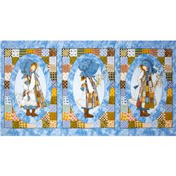 Holly Hobbie Panel Blue