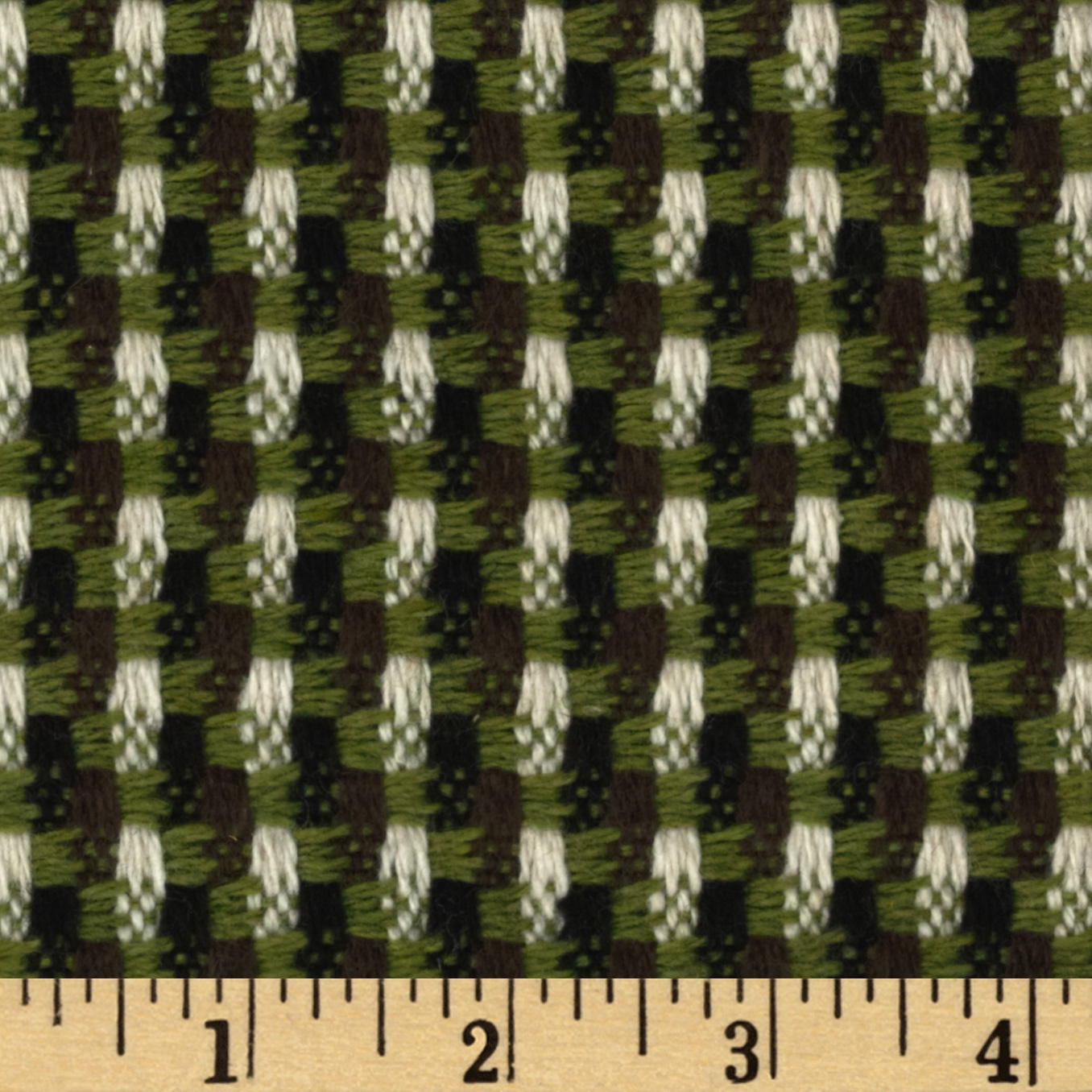 Boucle Tweed Coating Chocolate/Lime Fabric