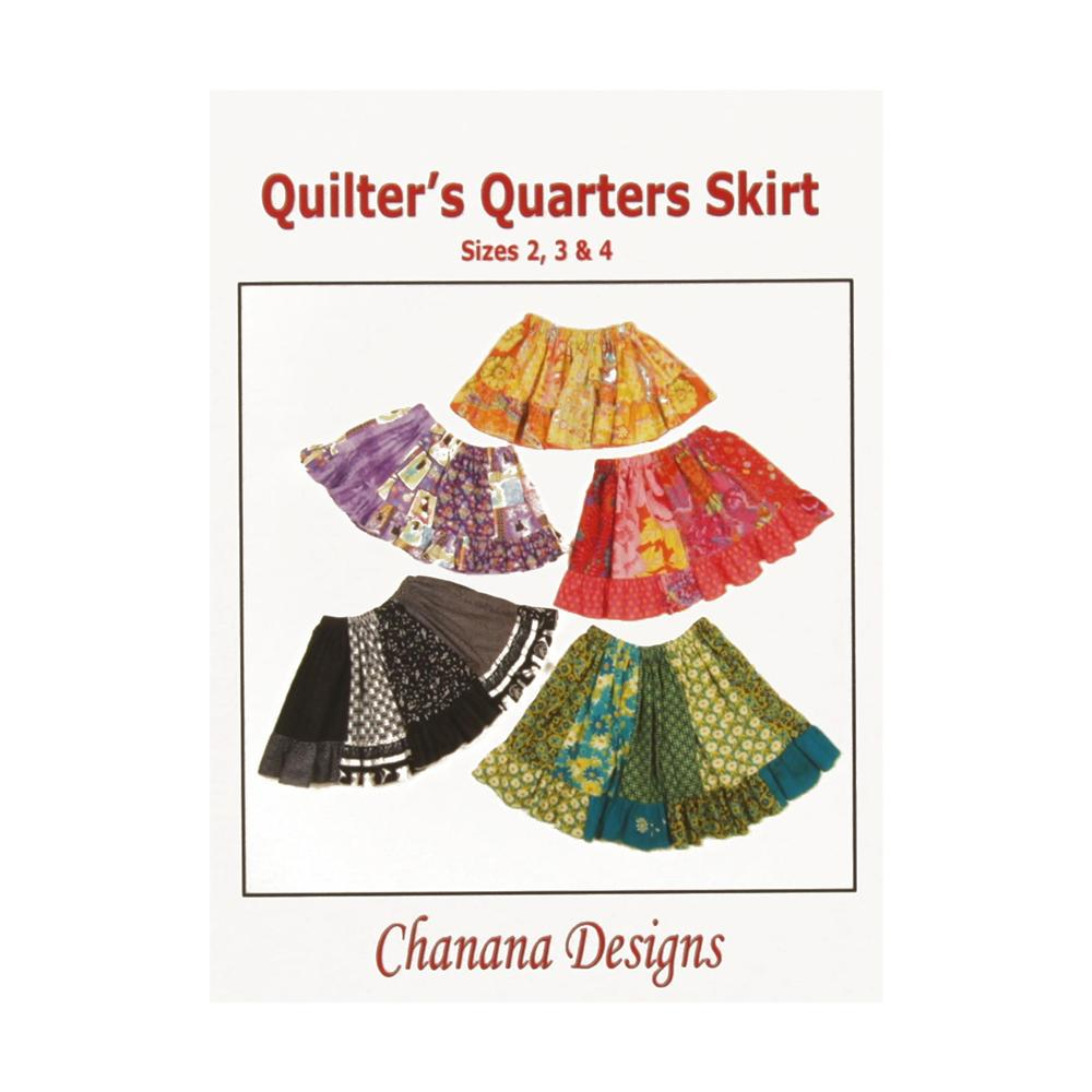 Chanana Designs Quilters Quarters Skirt Pattern Size 2 - 4