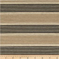 Designer Stretch Rayon Jersey Knit Stripe Beige Fabric