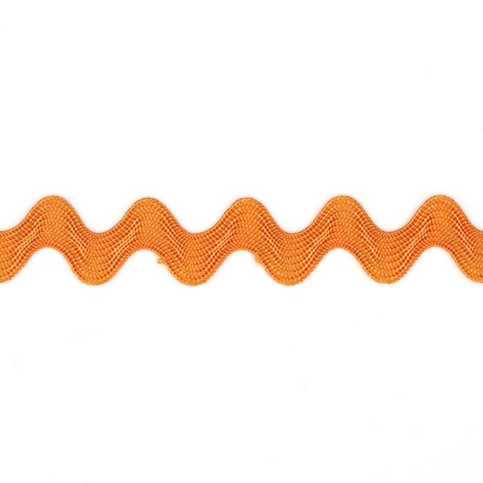 "5/8"" Ric Rac Rayon Medium Trim Orange"