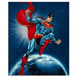Superman in Space Fleece Panel