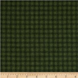 Timeless Treasures Tailormade Flannel Check Green