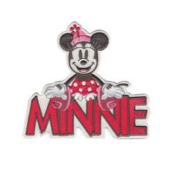 Disney Mickey Mouse Iron On Applique Minnie W/Name