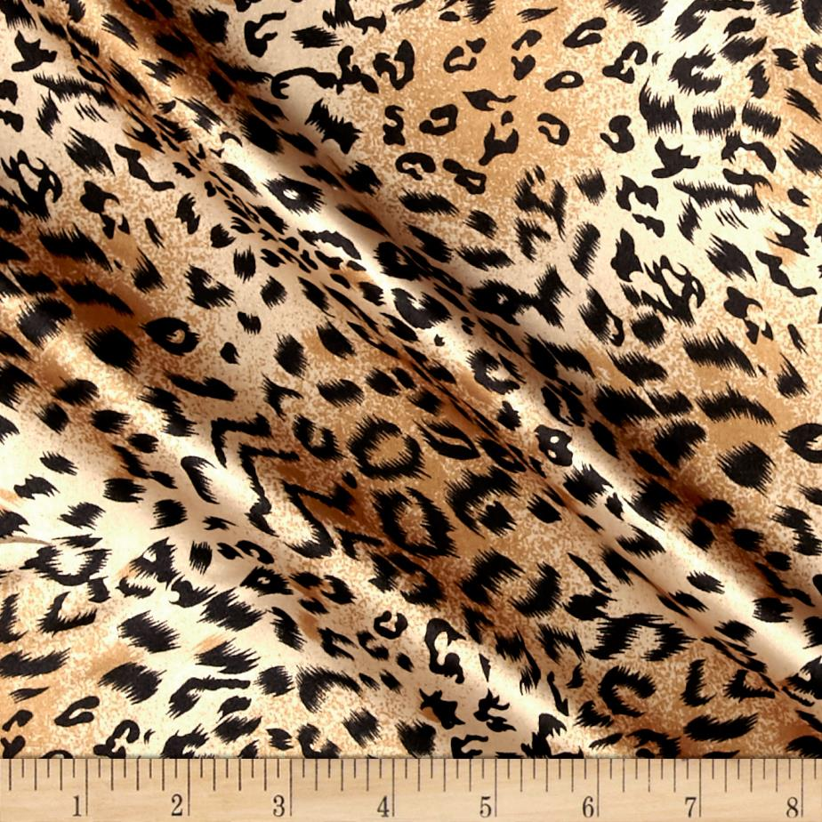 Charmeuse Satin Cheetah Small Brown/Black Fabric